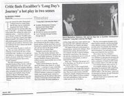 1997 Chicago Skyline Theatre Review by Beverly Friend of The Excaliber Shakespeare Company of Chicago's muliracial cast revival of Eugene O'Neill's Long Day's Journey Into Night.