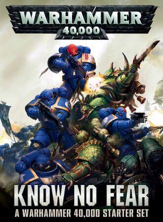 Warhammer 40000 Know No Fear Starter Set Box Art
