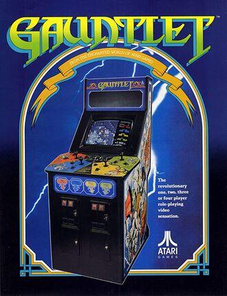 Gauntlet 1985 Arcade Poster