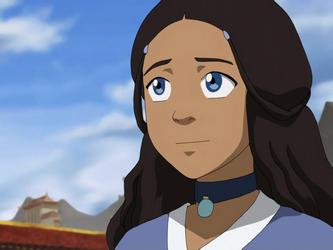 Katara smiles at coronation