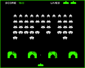Space Invaders Gameplay Screen