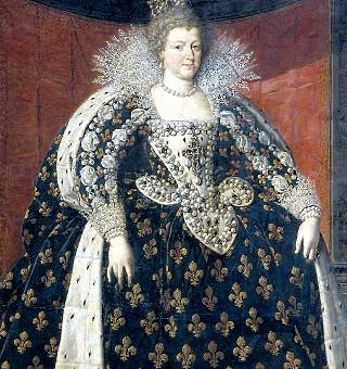 Marie de medici royal dress