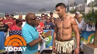 Meet Tonga's Oiled Olympic Flag Bearer, Pita Taufatofua TODAY
