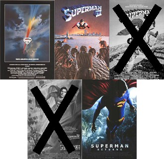 Superman movie posters