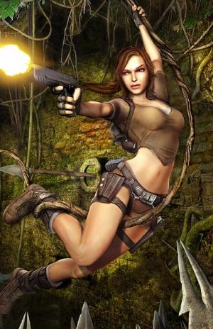 Lara Croft Action Girl