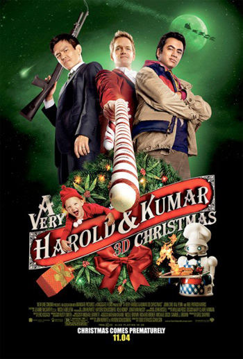 A Very Harold and Kumar 3D Christmas Movie Poster 8863