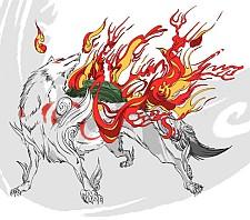 Okami on fire
