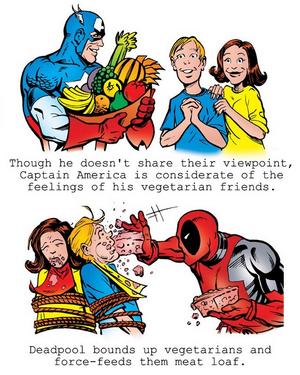 Cap vs Deadpool