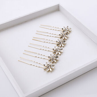 Crystal art deco hair pins 2