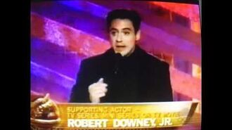 Robert Downey Jr wins Golden Globe for Ally McBeal