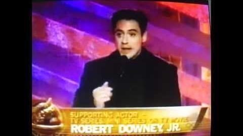 Robert Downey Jr wins Golden Globe for Ally McBeal