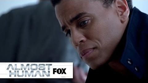 "Dorian's Important Discovery from ""Skin"" ALMOST HUMAN FOX BROADCASTING"