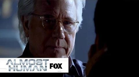 "Dorian Meets His Creator from ""Unbound"" ALMOST HUMAN FOX BROADCASTING"