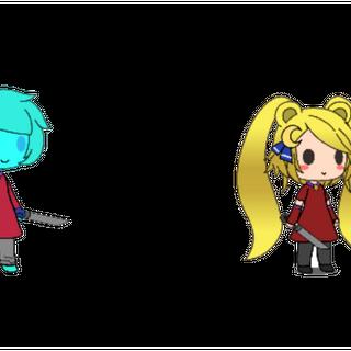 Both Tsukis, made in Gacha Life