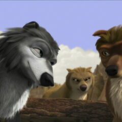 Winston persuading Tony to allow Alpha and Omega wolves to become mates.