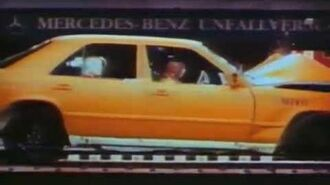 Mercedes Benz W124 Crash Test