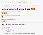 ListesDeMots