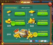 Acheter des lingots 1