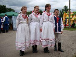 Regional costume of Lasowiacy (Masurians), 2010 Bukowsko