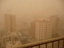 Sand storm in Salmiya, Kuwait