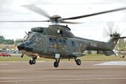 Swiss Air Force Super Puma arrives RIAT Fairford 10thJuly2014 arp
