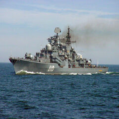The RFS NASTOYCHIVY on patrole of the coast of Romania 2023.