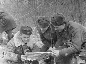 Soviet soldiers during the Sino-Soviet War