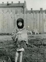 Famine Kharkov girl and goat 1933
