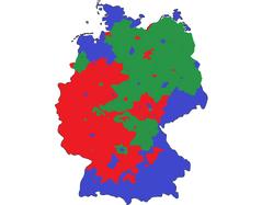 German Civil War Map