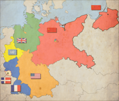 Occupation Zones of Germany after Yalta