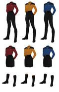 Class b uniform wraparound female