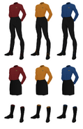 Class a uniform undershirt female