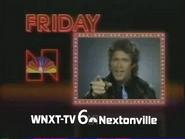 WNXT 1985 promo bumper bug