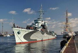 Niszczyciel ORP Błyskawica - okręt muzeum