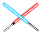 Dueling lightsabers
