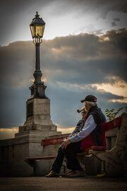 Elderly-bench