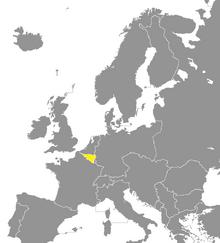 Locatie van Wallonië