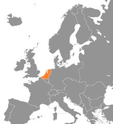 Locatie van het Nederlandstalig land