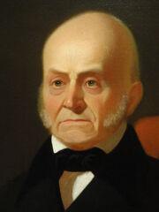 John Quincy Adams by George Caleb Bingham (detail), c. 1850 after 1844 original - DSC03235