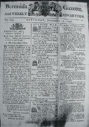 Bermuda Gazette - 12 November 1796