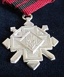 Срібний хрест Бойової заслуги на стрічці медалі За бойову відвагу