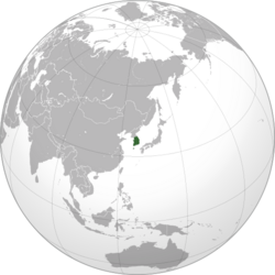 South Korea (orthographic projection)