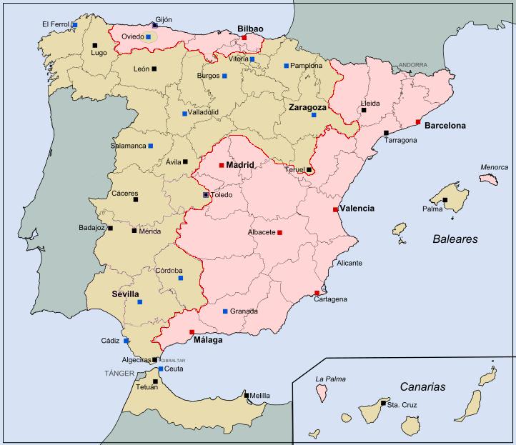 Карта на начало октября