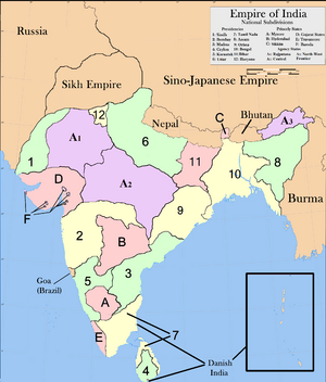 Map of India for Cal (NAV)