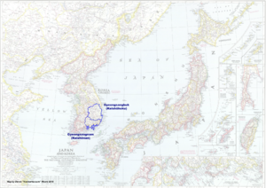 Map of Japan (Russian America)