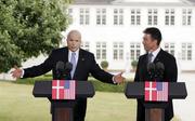 Anders Fogh Rasmussen with John McCain