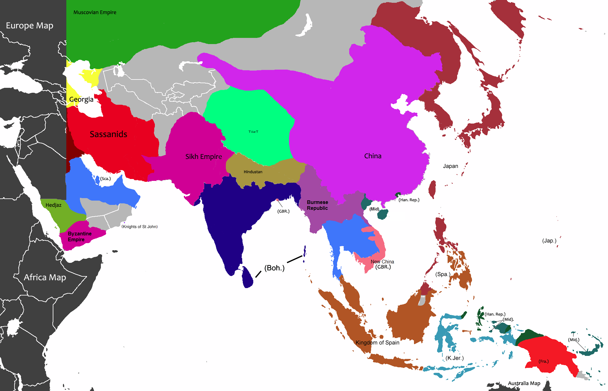 Image - Asia-1838 (Map Game).png | Alternative History | FANDOM ...