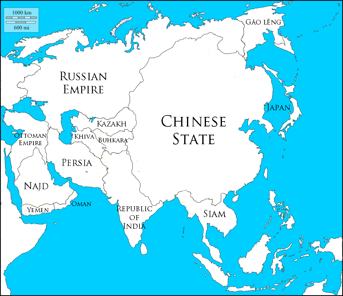 Image - Asia-blank-map-VINW-2-names-1950\'s.jpg | Alternative History ...