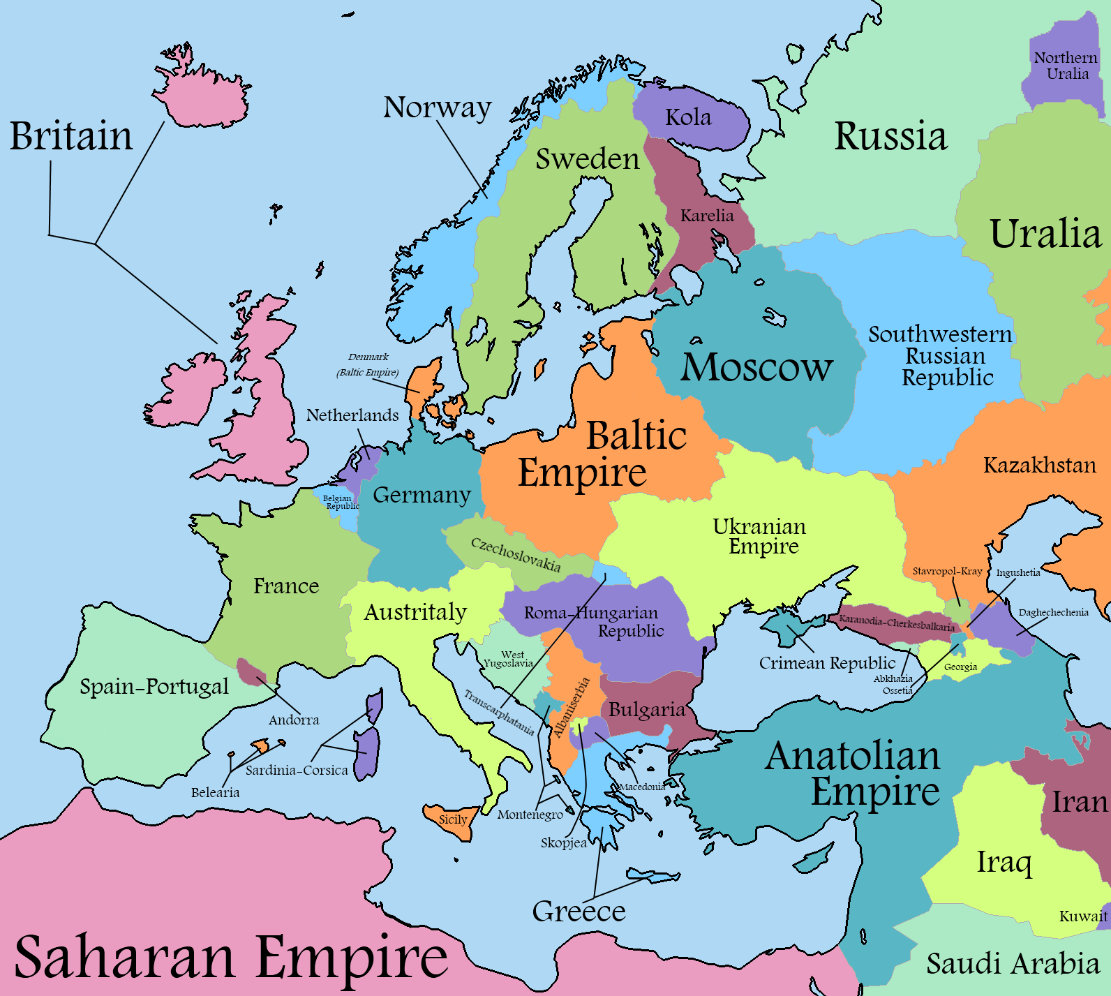 Image - European Alternate History Map 1.png | Alternative History ...