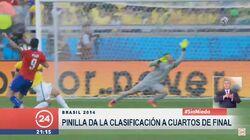 Gol de Pinilla, Chile-Brasil (2014)